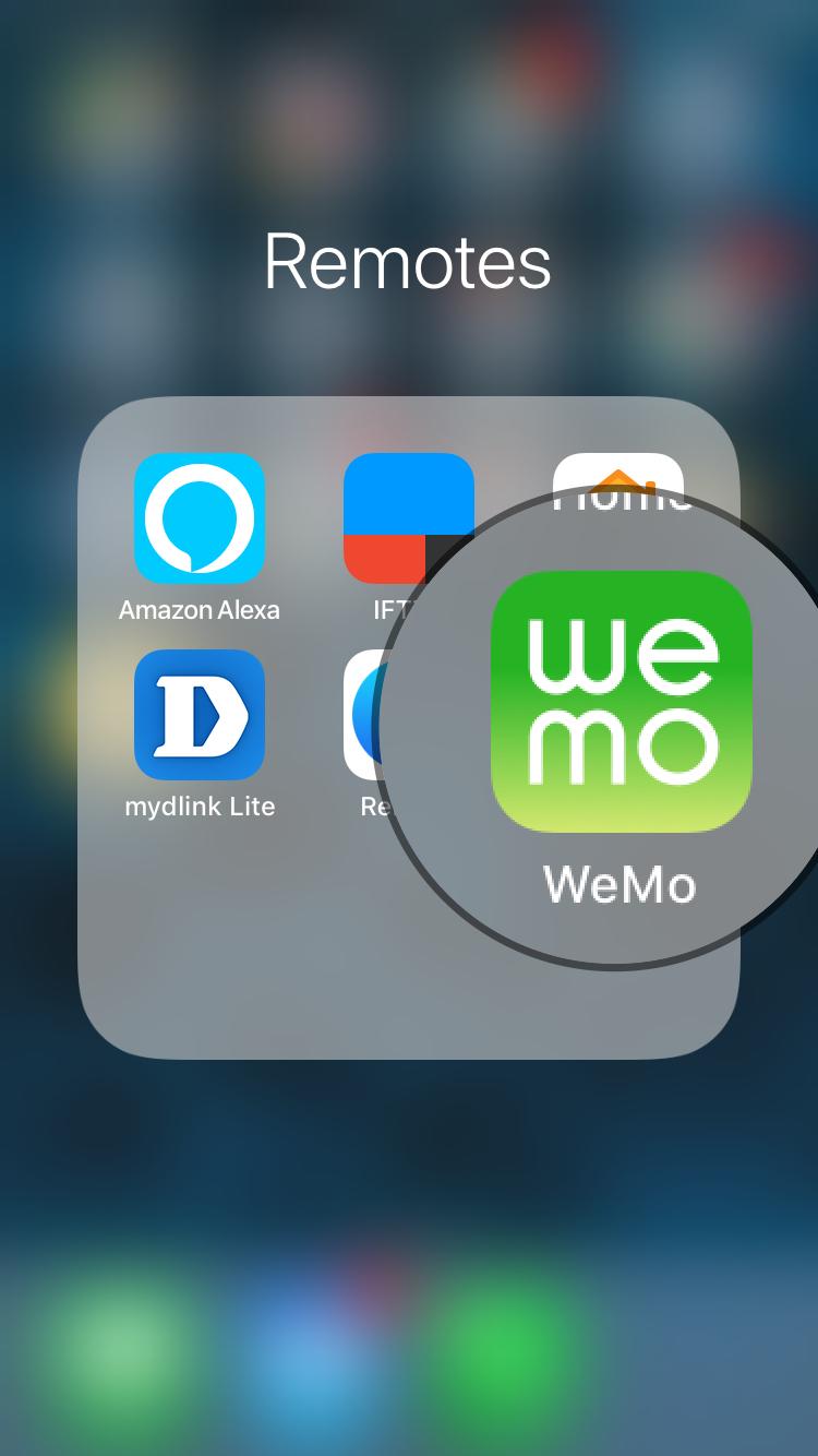 Wemo Setup IFTTT