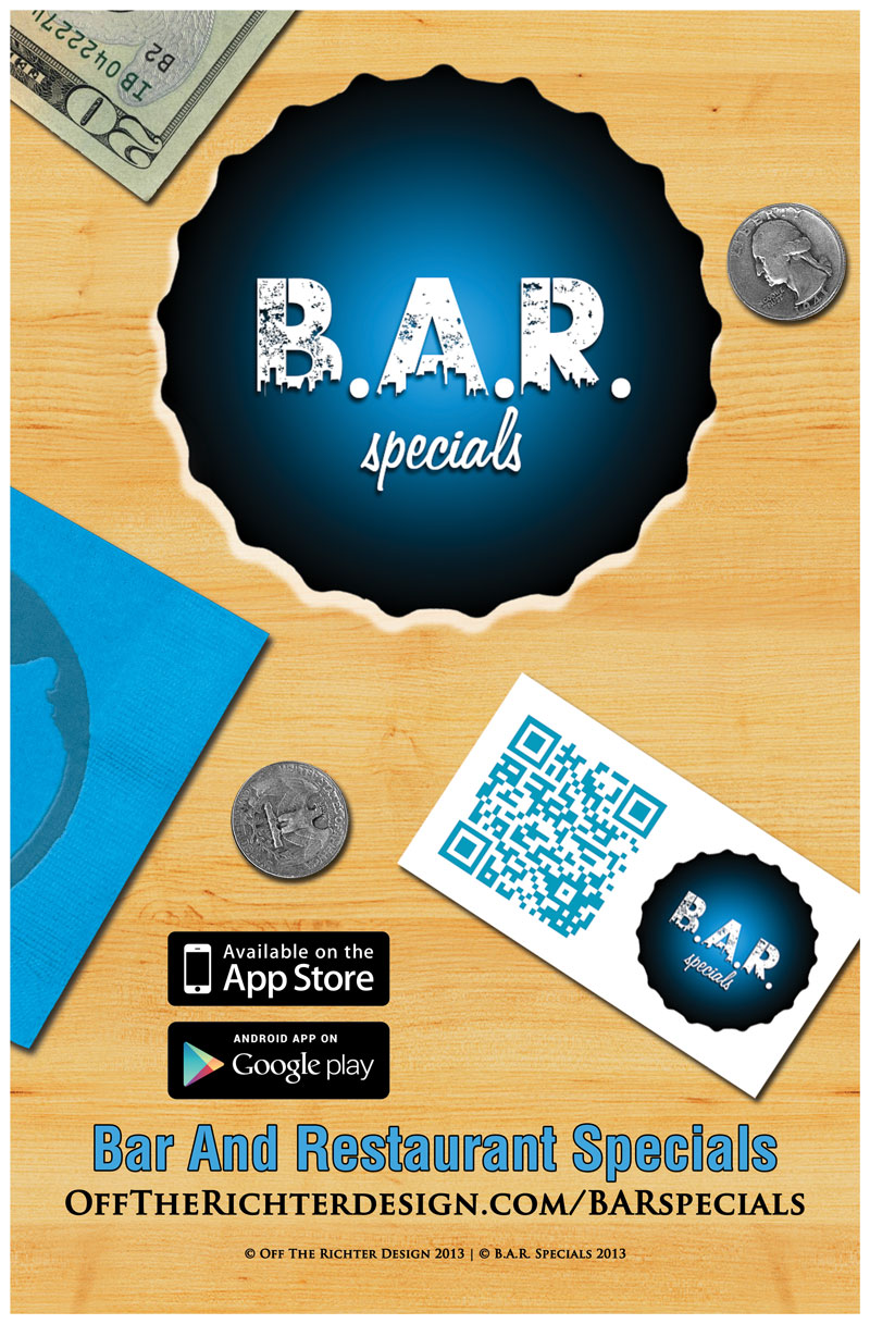 Mobile Application BAR Specials Poster