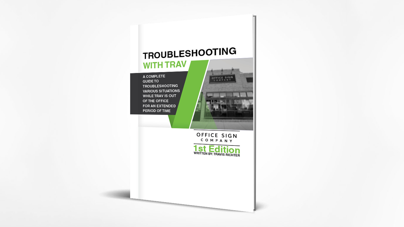 Troubleshooting with Trav Book